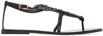 Sophia Webster Black Butterfly Flat Sandals