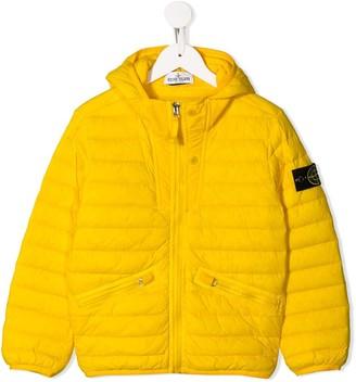 Stone Island Junior Zip-Up Puffer Jacket