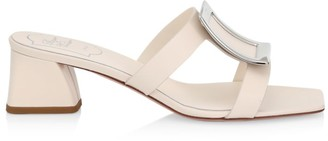 Roger Vivier Bikiviv Leather Mules