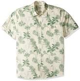 Quiksilver Men's Agavy Short Sleeve Button Down Floral Shirt