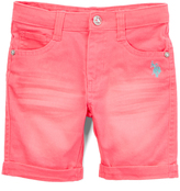 U.S. Polo Assn. Neon Pink Bermuda Shorts - Toddler & Girls