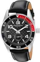 Akribos XXIV Men's AK859SSB Round Dial Three Hand Quartz Strap Watch