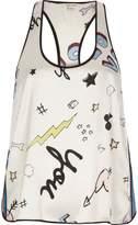 River Island Womens Cream abstract print pyjama top