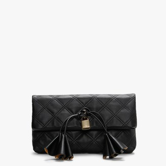 Marc Jacobs Sofia Loves Black Leather Clutch Bag