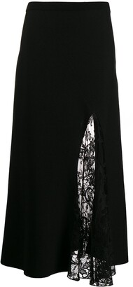 Givenchy Floral Lace Panel Skirt