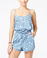 American Rag Star-Print Denim Romper, Only at Macy's