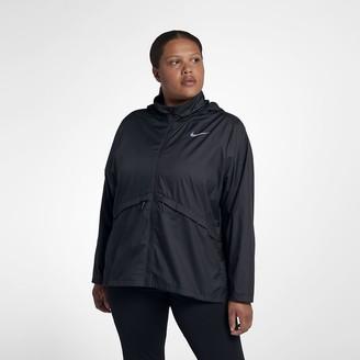 Nike Women's Hooded Running Jacket (Plus Size Essential