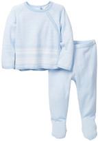 Angel Dear Mini Athletic Kimono Shirt & Footie Pant Set (Baby Boys)