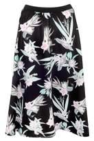 Select Fashion Fashion Womens Black Soft Tropical Full Skirt - size 10