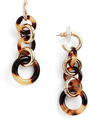 Ralph Lauren Tortoiseshell Drop Earrings