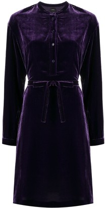 Aspesi Tie-Waist Velvet Dress