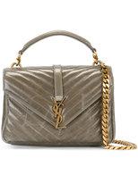 Saint Laurent classic medium Monogram Collège satchel - women - Calf Leather - One Size