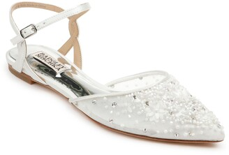 Badgley Mischka Carissa Embroidered Pointed Toe Flat