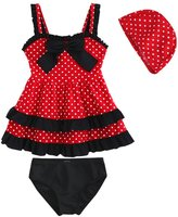 Dalary Baby Girl's Dots 3 Pieces Lace Bowknot Dress Bathing Suits Swimwear (3T, )