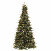 Asstd National Brand 6' - 7.5' Pre-Lit Extend-A-Tree Artificial Christmas Tree with Clear Lights