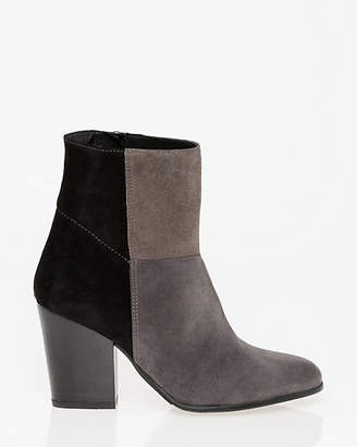 Le Château Italian-Made Suede Almond Toe Ankle Boot