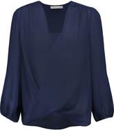 Alice + Olivia Annalisa draped silk-chiffon blouse