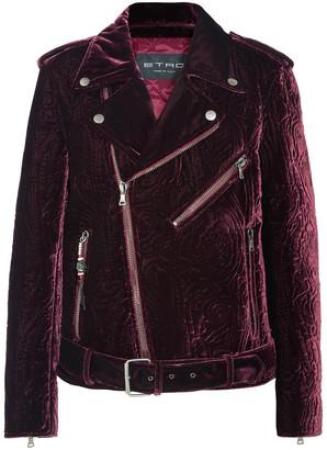 Etro Matelasse Velvet Biker Jacket