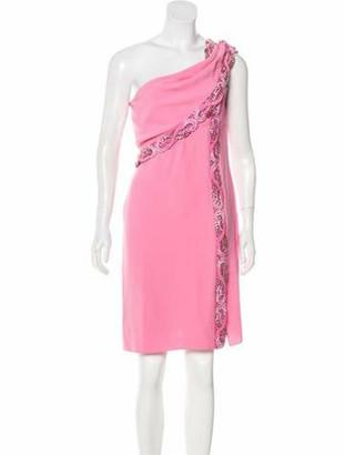 Valentino Beaded Silk Dress w/ Tags Pink