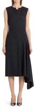 Alexander McQueen Side Drape Midi Dress