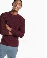 Express horizontal shaker knit crew neck sweater