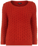 Dorothy Perkins Red chunky knot jumper