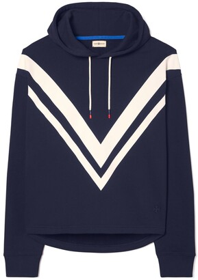 Tory Burch French Terry Chevron Hoodie