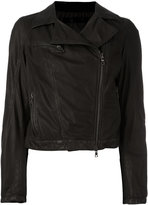 Drome zip up jacket - women - Cotton/Leather/Polyamide - M