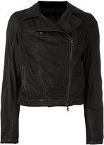 Drome zip up jacket - women - Leather/Cotton/Polyamide - M