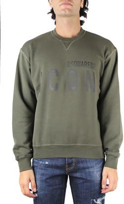DSQUARED2 Green Cotton Logo Sweatshirt