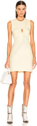 Alexander Wang Keyhole Twist Dress in Lime | FWRD