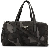 Prada Pre Owned camouflage pattern duffle bag