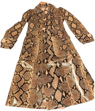 Miu Miu Beige Python Coat for Women