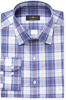 Club Room Men's Big and Tall Fit Wrinkle Resistant Plaid Dress Shirt, Created for Macy's