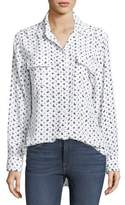 Equipment Moon & Stars Button-Front Print Signature Silk Shirt