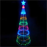Asstd National Brand 4' Multi-Color LED Lighted Show Cone Christmas Tree Yard Art