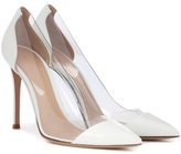 Gianvito Rossi Plexi patent leather and transparent pumps