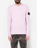 Stone Island Cotton Jersey LS T-Shirt in Rose Quartz