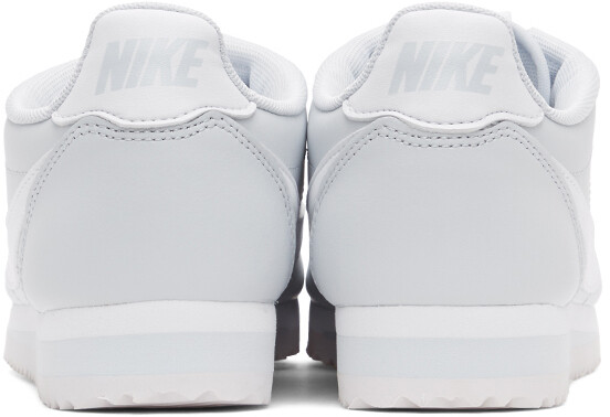 Thumbnail for your product : Nike Grey & White Leather Classic Cortez Sneakers