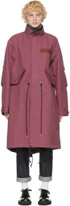 Sacai Pink Cotton Oxford Coat