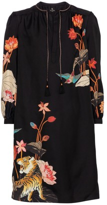 Etro Floral silk minidress