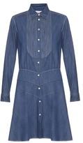 Sonia Rykiel Point-collar denim dress