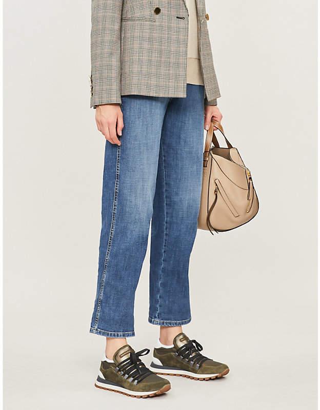 Brunello Cucinelli Straight high-rise jeans