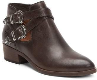 Frye Women's Ray Almond Toe Leather Western Booties