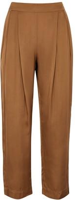 Velvet by Graham & Spencer Hillary brown satin trousers