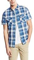 Lee Men's Western Slim Fit Classic Short Sleeve Casual Shirt,Medium