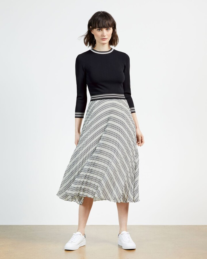 Ted Baker Knit Bodice Mockable Dress