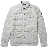 Polo Ralph Lauren Quilted Cotton-jersey Shirt Jacket - Light gray