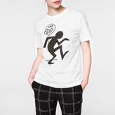 Paul Smith Women's White 'One Way' Print Cotton T-Shirt