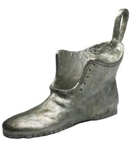 Cyan Design Shoe Token Sculpture